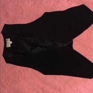 Black wrinkle-free vest